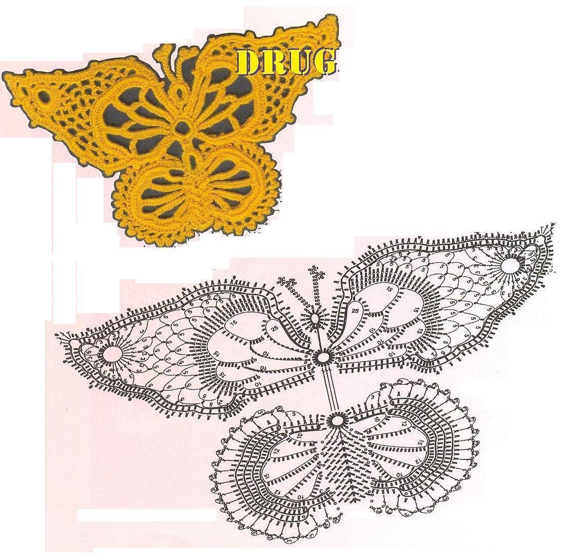салфетка бабочка