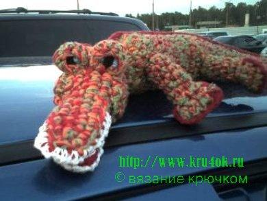 Вязаный крючком крокодил