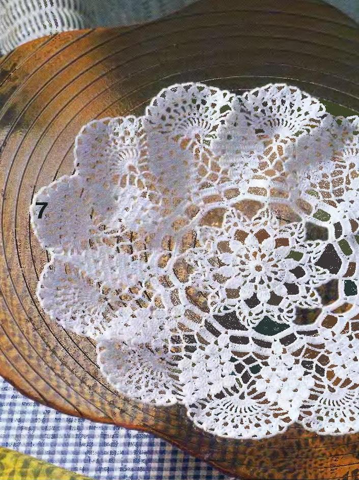 Легкие схемы для вязания крючком салфеток