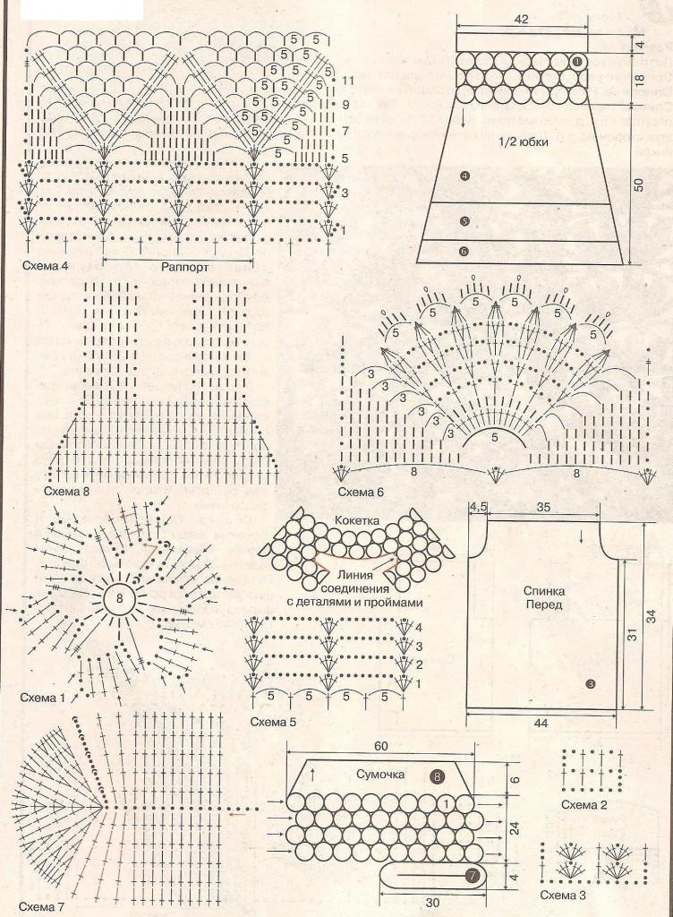 Схемы вязания крючком вещей для девочки 88