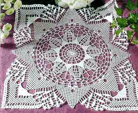 Схемы вязания крючком салфеток .  Кройка, шитье, вязание - способы и.