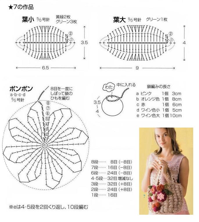 схема к вязаной сумке