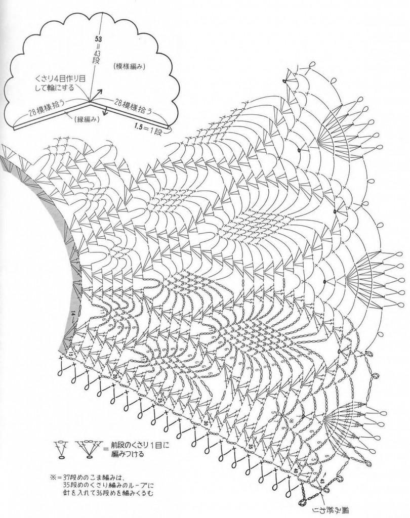Вязание накидки или палантина 270