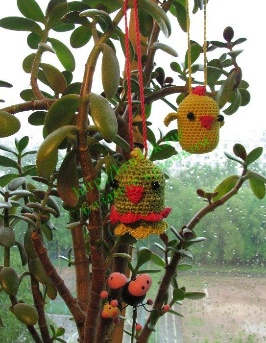 Птичка амигуруми, связанная крючком