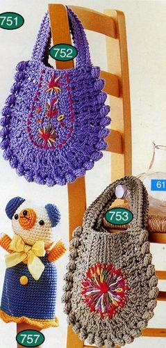 Рубрика.  Вязание для детей.  Сумки, рюкзаки.