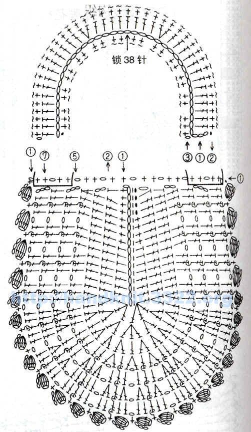 схема к вязаному чехлу