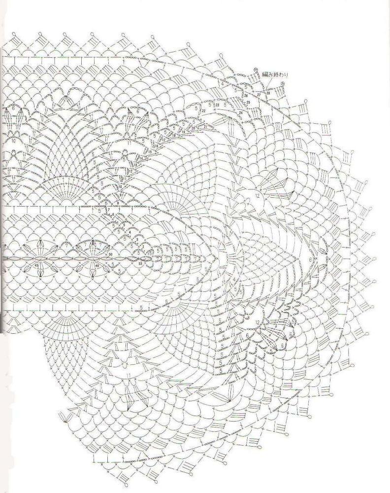 схема к вязаной салфетке