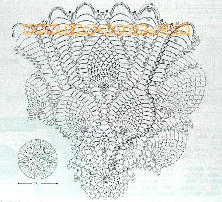 Схемы салфеток крючком 4.