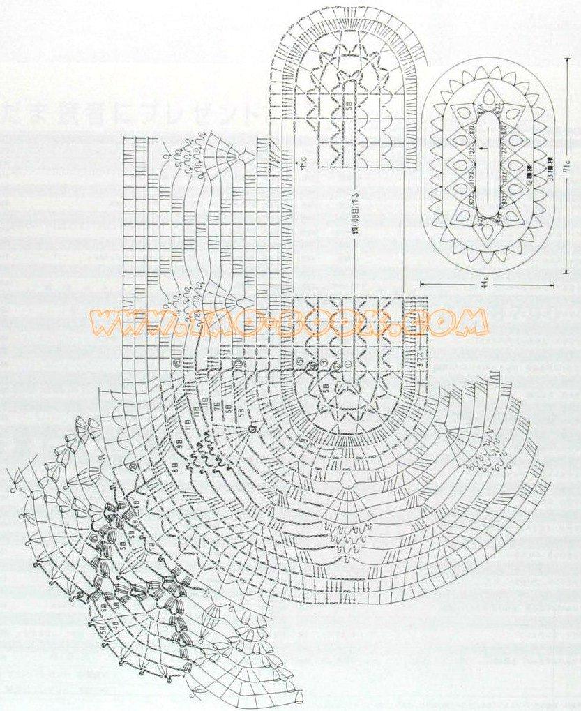Крючок схема салфетки виноград
