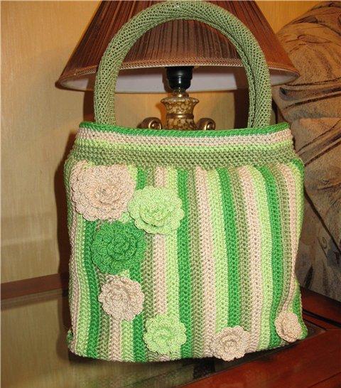 Вяжем крючком Пляжные сумки крючком- схемы, описание,фото - пляжная сумка крючком мастер класс.
