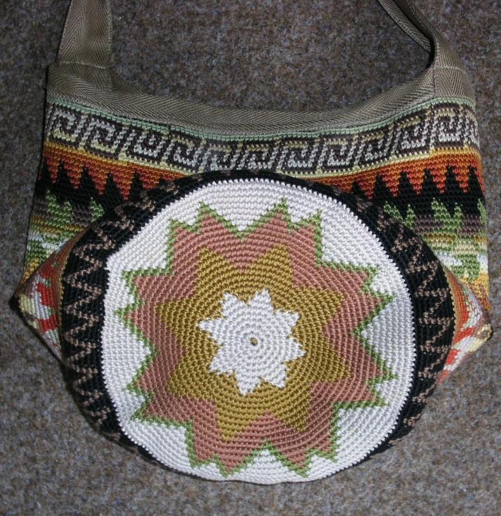 дно вязаной сумки