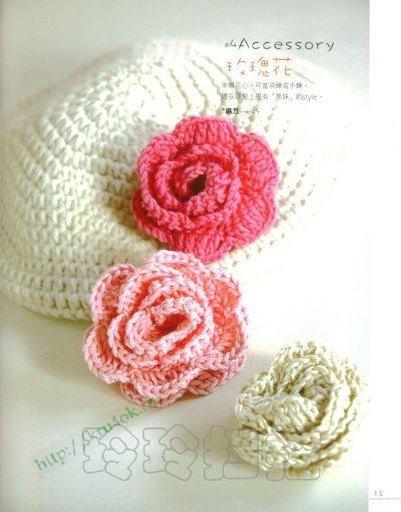 Мотивы цветы.  Схемы вязания цветов крючком.