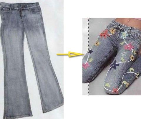 украшаем джинсы