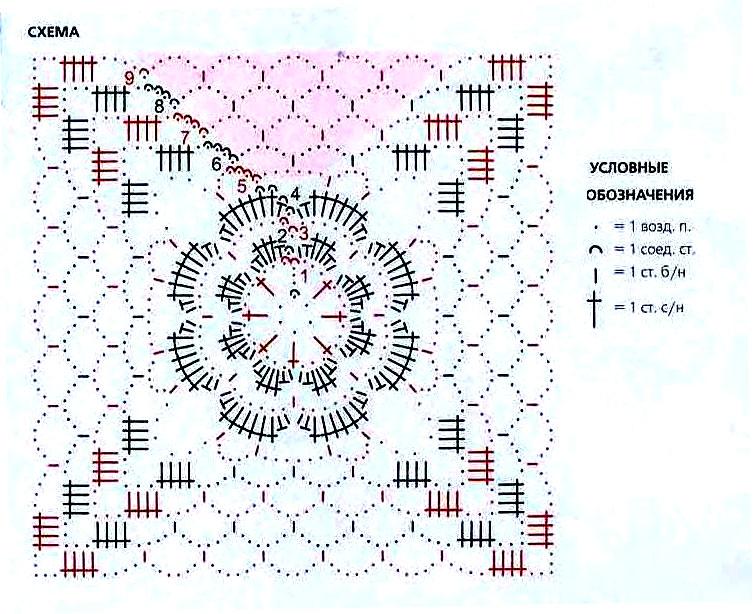 схема ажурного квадрата