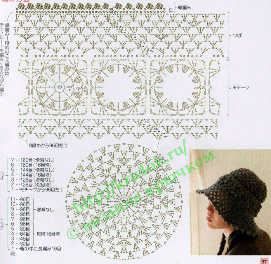 летняя шляпа, связанная крючком