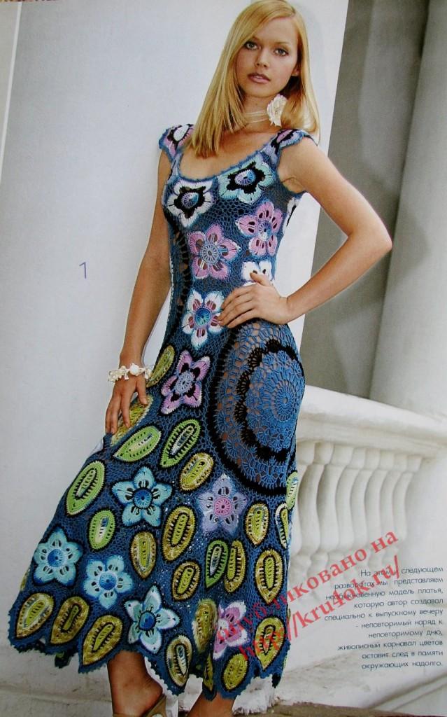 платье крючком фото