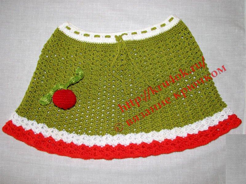 вязаная юбка. вязание