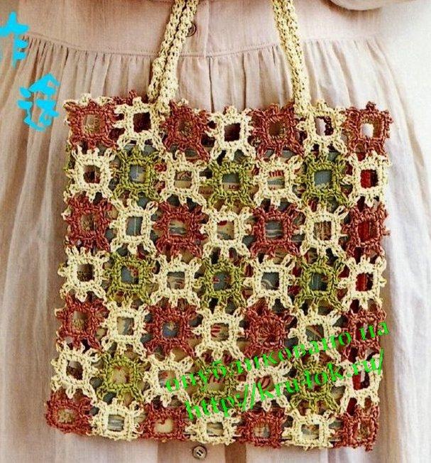 Теги: сумка сумочка вязаная сумочка вязание крючком сумка крючком.