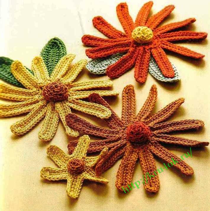 Вязание цветов. Часть 3