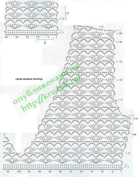 Схему вязания туника для детей