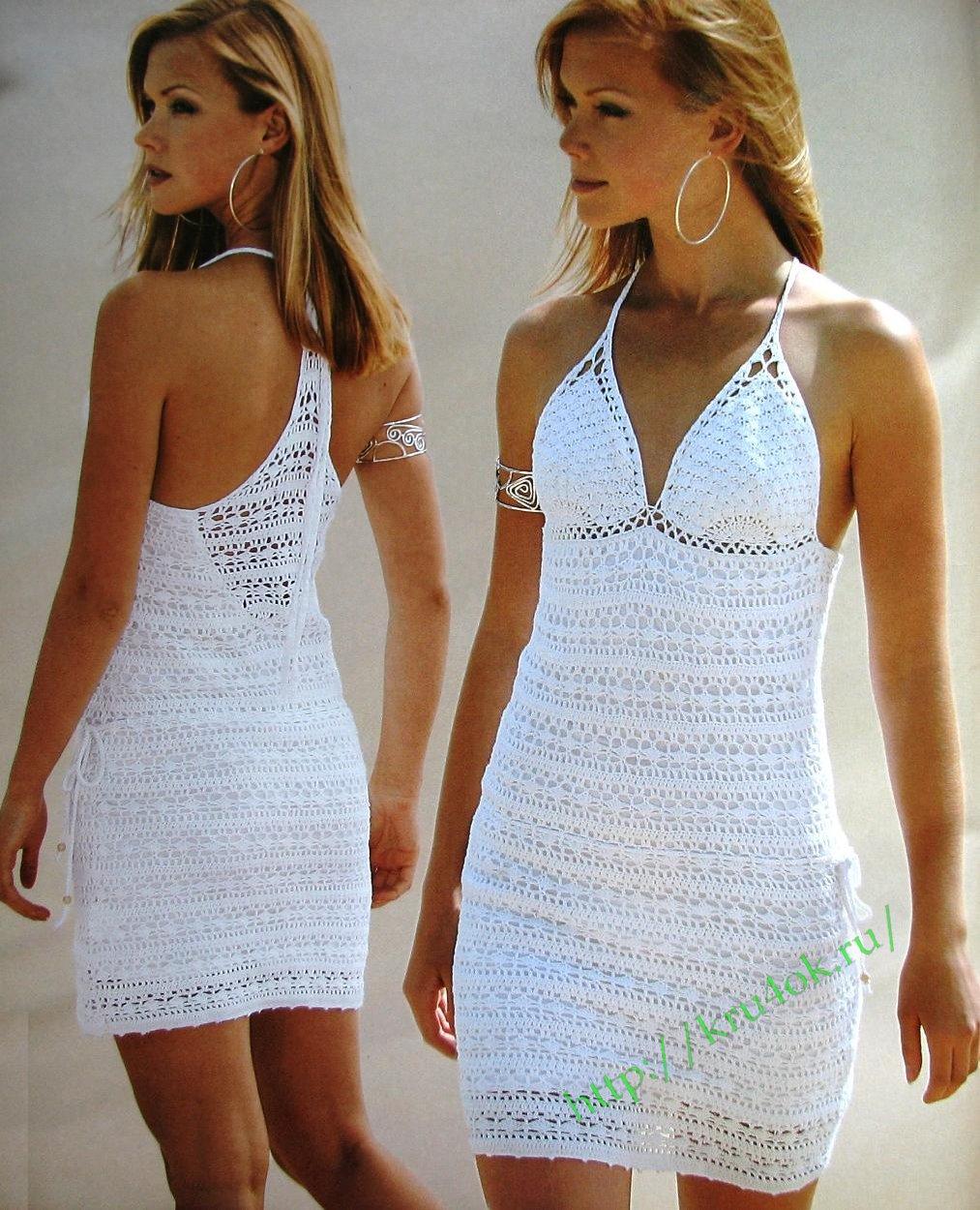 Схемы вязания платьев 2