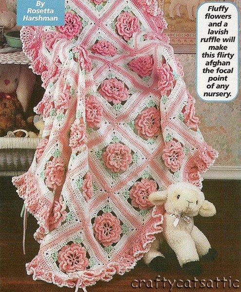 Жаль нет схемы вязания каймы.