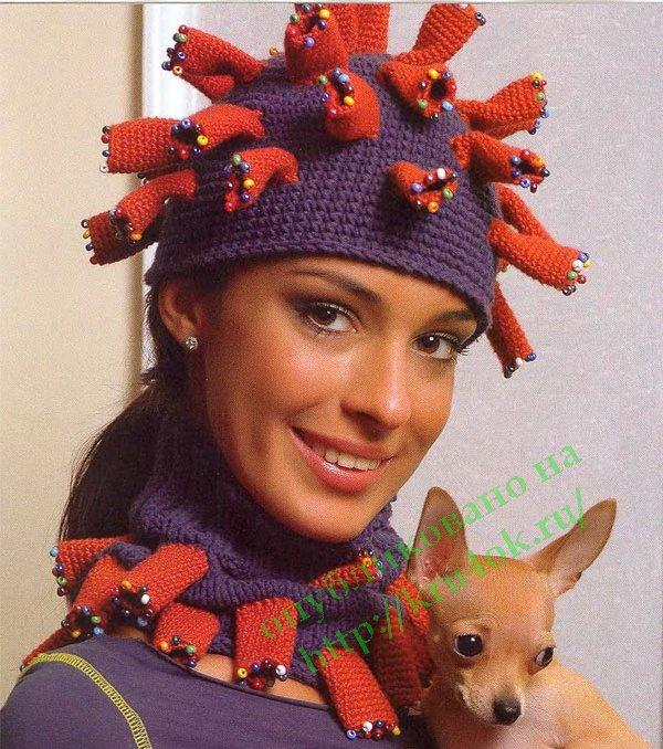 Вязаная шапка - вязание крючком на kru4ok