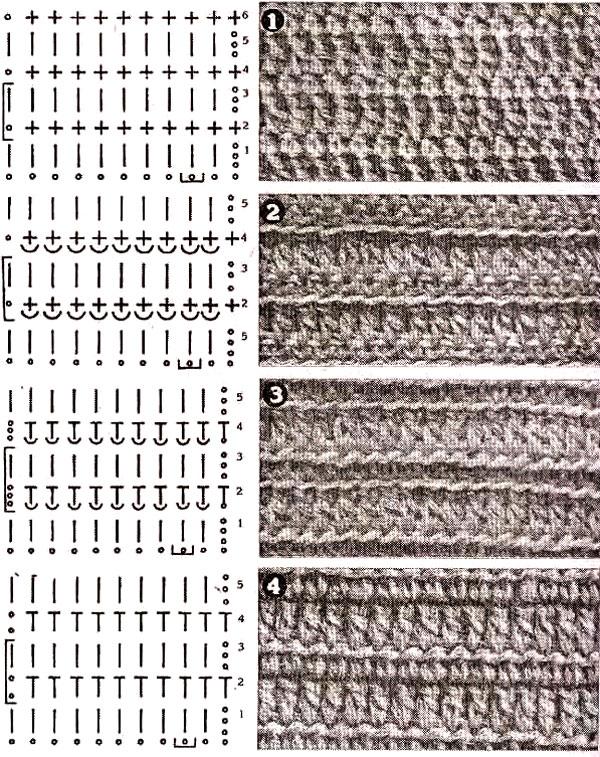 вязание крючком схемы