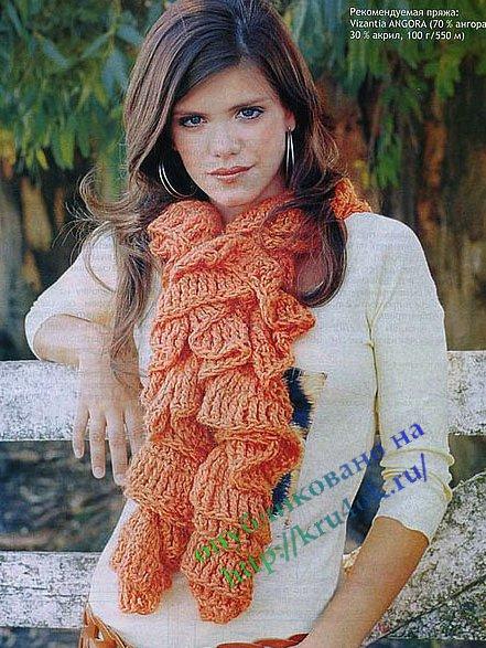 вязаный мужской шарф вязание спицами и крючком. шарфы крючком схемы.