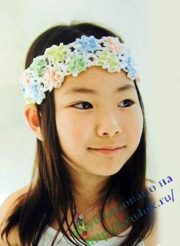 Повязка на голову цветы своими руками