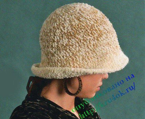 вязание на спицах для женщин с описанием шапки и шляпки.