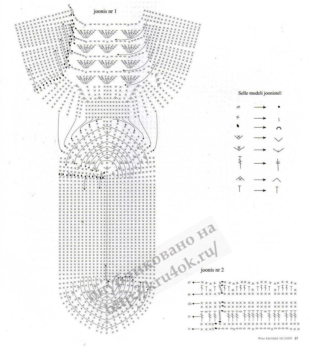 схема вязание крючком фиалки