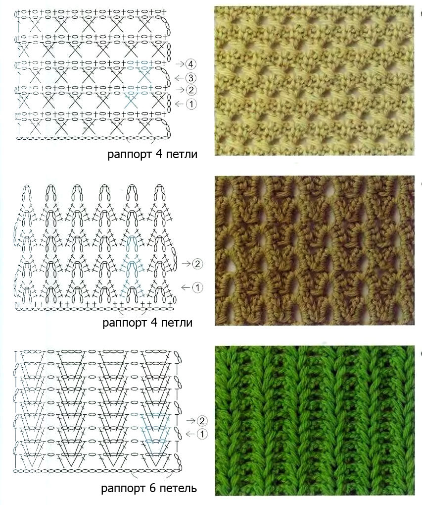 вязание крючком узоры схемы салфеток.