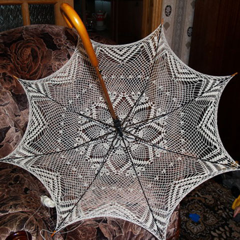 Вязаные зонтики схемы. зонт крючком.