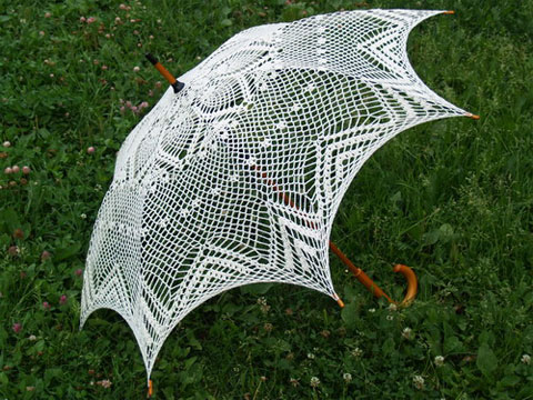 Вязание зонтика.
