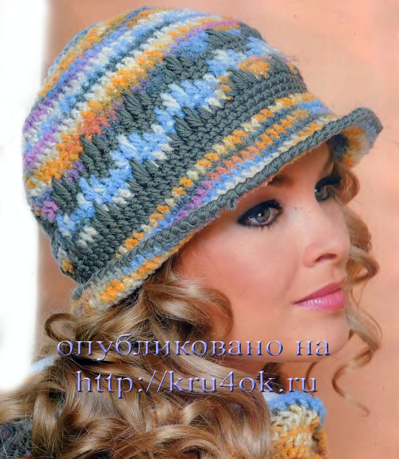 вязание крючком шапки