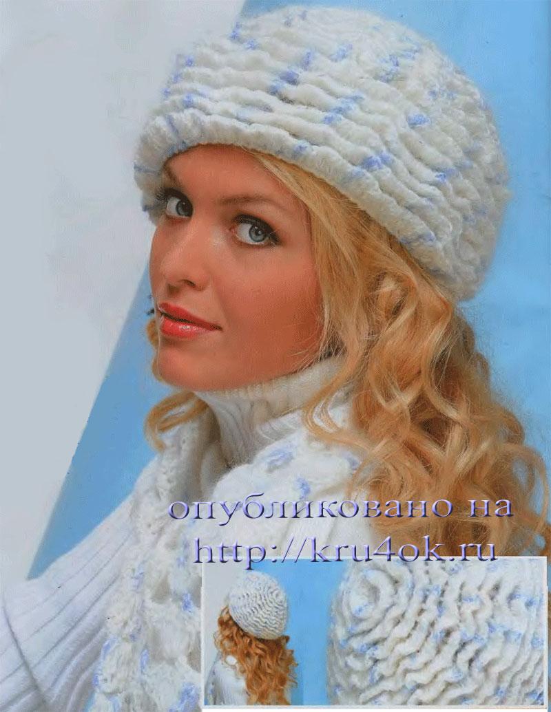 Схемы вязания шапок и беретов на спицах.