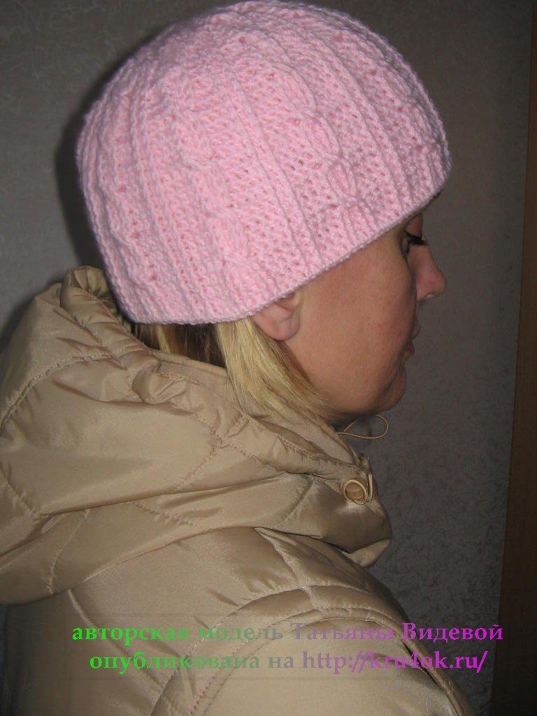 Зимняя шапочка (двойная, с вязаной подкладкой) - авторская модель...