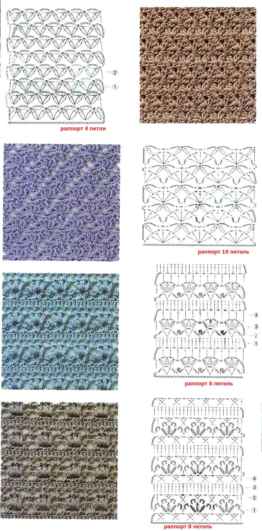 схемы вязания ажурная дорожка крючком