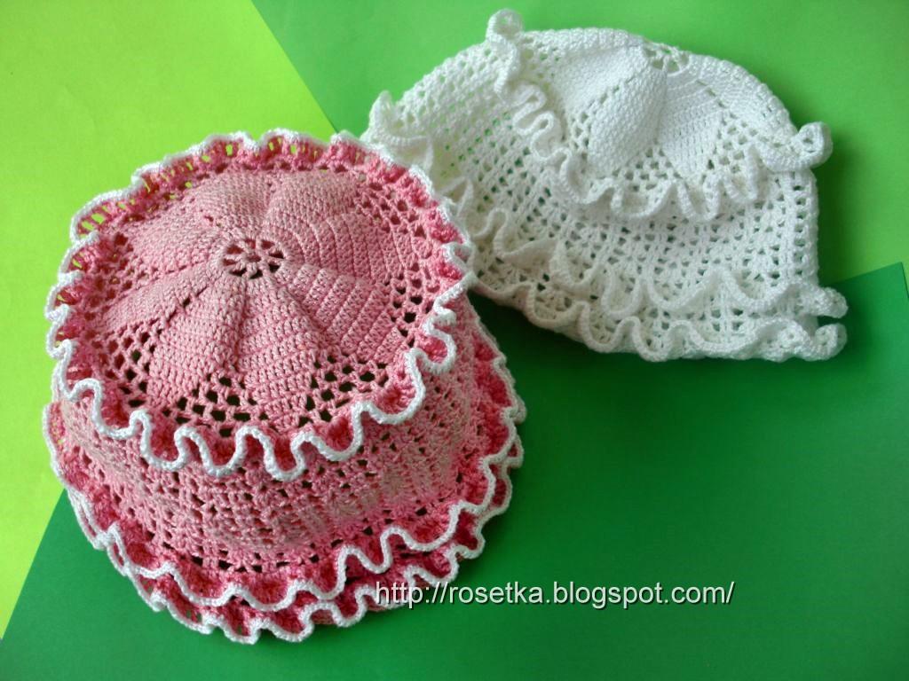 Вязание крючком шапочки модели для детей Сентябрь 29, 2012.
