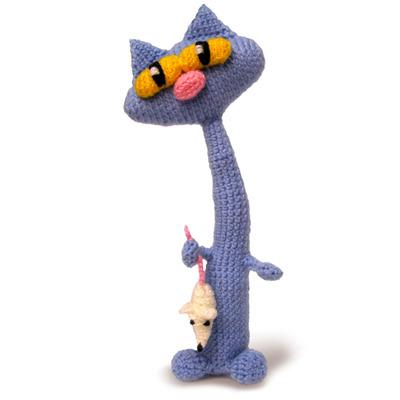 вязаные игрушки кот схемы
