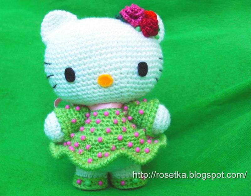 Вязала её on-line на Техномагии.  Один в один...  Hello Kitty в платьице...