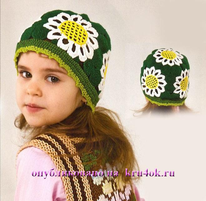 шапочки для девочек, вязание шапок.