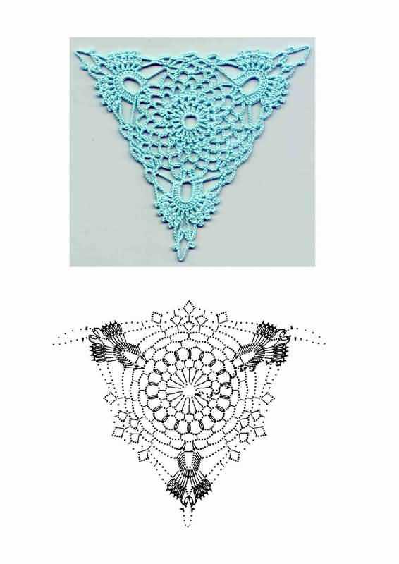 Схемы узоров вязания крючком.
