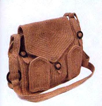 рюкзаки на колесиках: вязаный рюкзак.