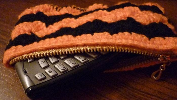 Чехол для телефона - вязание крючком.