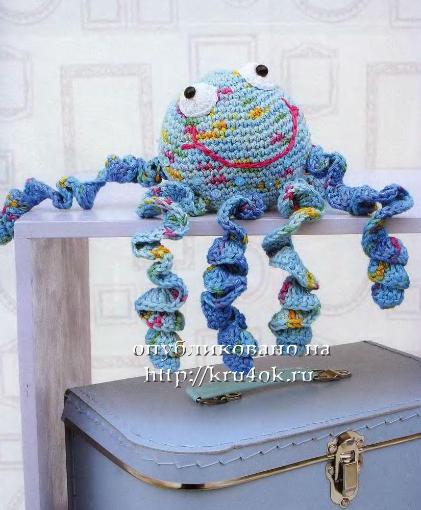 вязаная игрушка осьминог