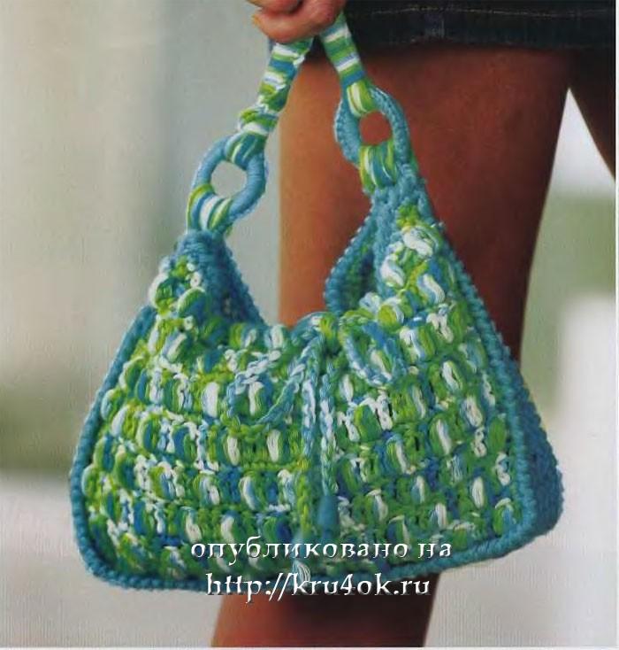 Бирюзовая сумка