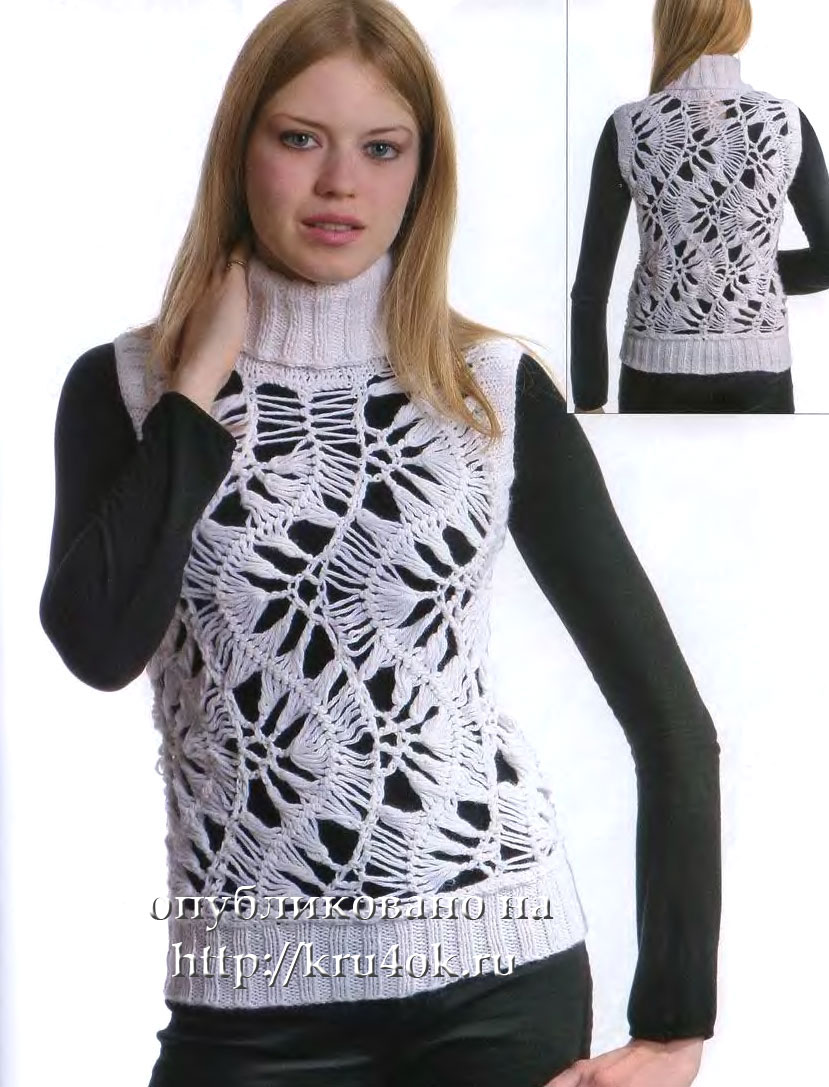 Вязание для мужчин летний пуловер