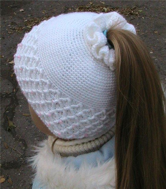 Шапки для детей, схемы вязания на спицах и крючком. вязание крючком.